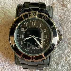 D&G Black Stainless Steel Watch!